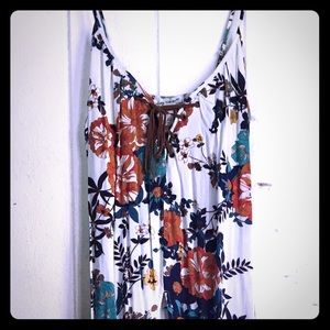 Floral American Rag Open-Front Dress/ Long Vest